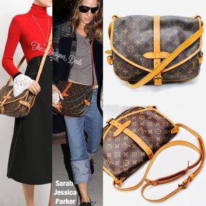 🔥Auth Louis Vuitton Saumur 30 Crossbody Messenger